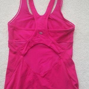 Pink Lululemon breathable mesh tank Size 4